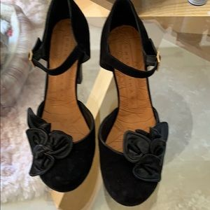 Chie Mihara black suede 3 inch heels size 10 new